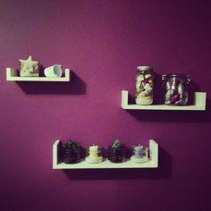 DIY mini mason jar candles shells bucket sand succulent glitter Christmas lights room decor purple shelves
