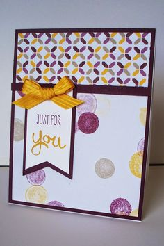 Stampin' Up!, 2014-2016 In Colors, Blackberry Bliss, Hello Honey, Moonlight Designer Series paper, Work of Art