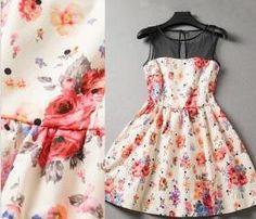Floral Sleeveless Dress Fashion Splicing