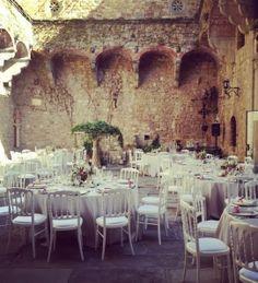 wedding dinner at Vincigliata   White