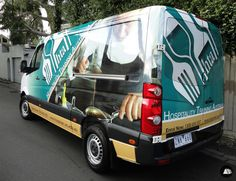 Full Van Wrap, Catering, Education, Large Van, Volkswagen Crafter, Hospitality Training Australia