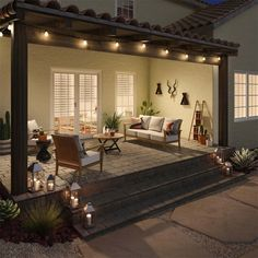 If at all possible, you may use stone patio ideas as a way to add in a seat. At times the stone patio ideas can produce the design a little flat. Among the intriguing stone patio ideas comes from making… Continue Reading → Backyard Patio Designs, Pergola Designs, Backyard Ideas, Backyard Covered Patios, Covered Pergola, Quaint Patio Ideas, Backyard With Fire Pit, Back Porch Designs, Small Backyard Patio