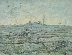 All sizes | Vincent van Gogh - Snow-Covered Field with a Harrow (after Millet) [1890] | Flickr - Photo Sharing!
