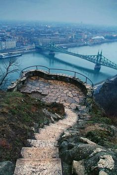 Budapest, Hungary! Even in dreary weather, it still looks gorgeous.