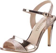 a53ce3798 Buffalo Shoes Women s 15s90-5 Glitter Metallic Pu Wedge Heels Sandals   Amazon.co.uk  Shoes   Bags