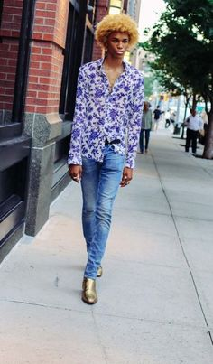 Michael Lockley and more of the best street style from the Spring 2017 New York men's shows.