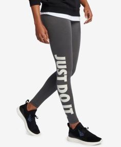 Nike Leg-a-See Just Do It Dri-fit Leggings - Carbon Heather XS