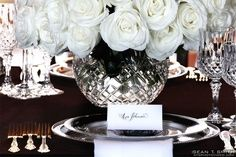 Planned, Designed & Produced by www.swankproducti... - Gatsby Inspired Wedding - Grooms Seat - Hempstead House