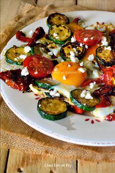 Dégustation plancha legume recette Légumes grillés œufs paprika Gut chez Kaderick