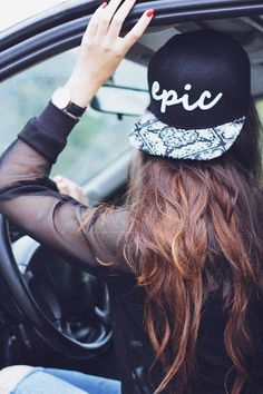 Mesh tops are one of my many weaknesses, so peng with a cap or a snapback. I'm seeing them everywhere atm...