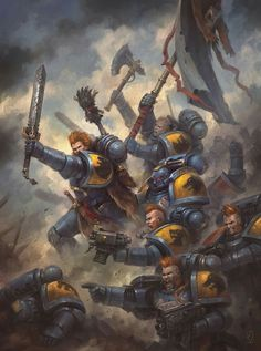 """ ""Space Wolves Blood Claws"" by Jaime Martinez "" Warhammer 40k Space Wolves, Warhammer 40k Art, Warhammer 40k Miniatures, Warhammer Fantasy, High Fantasy, Fantasy Art, Space Marine, Age Of Sigmar, Science Fiction"