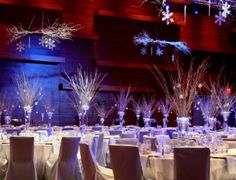 Winter wonderland reception purplesilverblue theme wedding ideas do it yourself wedding table arrangements google search winter wedding ideasdiy solutioingenieria Image collections
