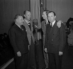 Walt Disney with Amos and Andy Radio Actors 1938, FREEMAN GOSDEN AND CHARLES CORRELL