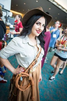 Indy Cosplay - #SDCC San Diego Comic Con 2014 #Rule63 This by far is one of the best Indy girl Cosplaying I have seen