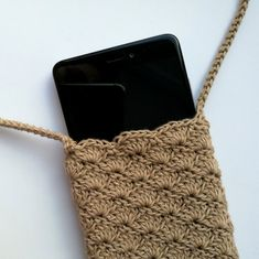Items similar to Crochet phone case Shoulder iphone cover Crossbody bag Small vegan purse With Lining fabric Boho summer pouch Beige rustic style on Etsy Crochet Case, Crochet Phone Cases, Crochet Purses, Thread Crochet, Knit Crochet, Baby Girl Frock Design, Vegan Purses, Art Bag, Diy Christmas Cards