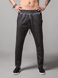 Lunar Washed Sweats Pants $30.60  #men #fashion #style #street #pants #sweats #washed #black #dark #gray #jersey