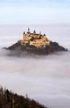 Hohenzollern Castle floating above the Clouds, Germany , from Iryna