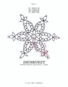TATtle TALES Tatting Patterns: Tatting Snowflake Pattern Snowburst