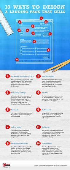 Mira estos 10 Tips para crear una landing page que venda! Mientras mejor sea tu landing, mejor serán tus ventas.. Si quieres ver más tips de e-Commerce síguenos en nuestra web  2b eCommerce l The key to online branding and sales success!