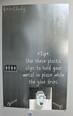 Diy Magnetic Board Wall Kitchen Desk Areas Metal
