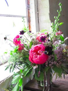 may and june wedding flowers Incredible peonies and cow parsley from The Blue Carrot, Cornwall