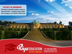 Abroad Education in Germany - Germany's education system produces top performers!!!! The best place to study.Students who wish to study in Germany get in touch with Riya Education.   #kannur #consultants #India #higher