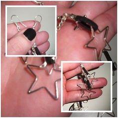 Damen #Ohrringe - #Modeschmuck Hängerchen/ #Sterne /Schwarz/Silber | #eBay