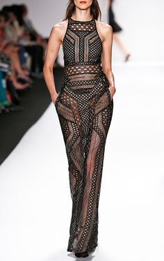 J.Mendel  Trunkshow S/S 2014 Graphic Lace Fully Embroidered Gown $30000