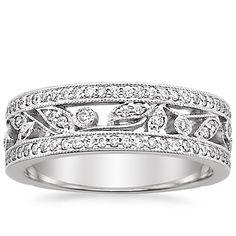 Flora Ring in 18K White Gold