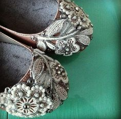 05351c35f3ea French Knot Lace Bridal Ballet Flats Wedding Shoes - All Full Sizes - Pick  your own