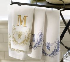 Bee Guest Towels, Set of 2 #potterybarn