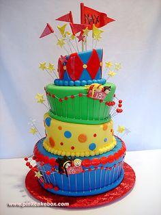 Amusement Park Themed Bar Mitzvah Cake