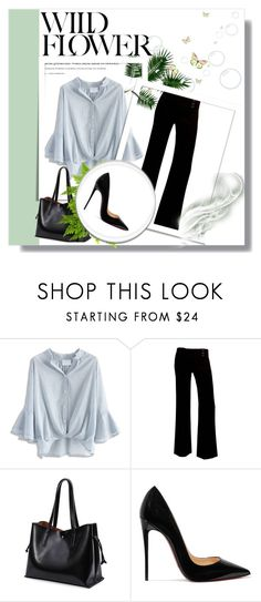 """""""Tudo Aconteceu Em Seattle"""" by liasalvatore ❤ liked on Polyvore featuring Chicwish, A. Byer and Christian Louboutin"""