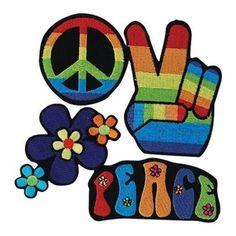 4 Hippy Hippie Rainbow Fancy Dress Peace Applique Iron On Patches Badges Punk Patches, Denim Jacket Patches, Pin And Patches, Iron On Patches, Hippie Style, Hippie Boho, Hippie Fashion, Hippie Fancy Dress Costume, 60s Hippies