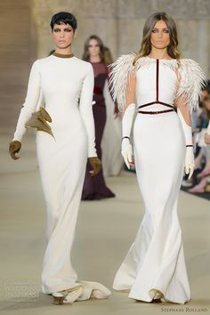 Architectural wedding dress - stephane rolland couture fall 2012 2013 white long sleeve gowns