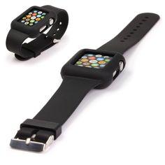 Original UrCover® Apple Watch Silikon Armband Schutz Hülle Wrist Band Uhrenarmband 42mm Schwarz: Amazon.de: Elektronik Black 1,00€