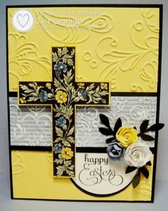 DD98 Cross of Hope- Happy Easter by Julie Gearinger - Cards and Paper Crafts at Splitcoaststampers