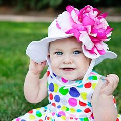 Coconut Sorbet Baby Girl Sun Hat #Melondipity