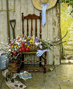 Norman Rockwell ~ Spring Flowers