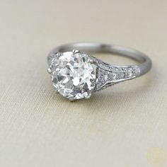 Vintage Engagement Ring Set in Platinum by EstateDiamondJewelry, $51000.00  #Vintage #Engagement #Ring