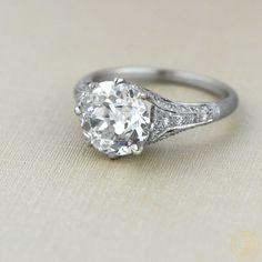 Vintage Engagement Ring Set in Platinum by EstateDiamondJewelry, $51000.00  #Vintage #Engagement #Ring