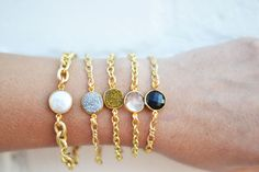 druzy and quartz bracelets. i want each one of them! Handmade by The Shine Project