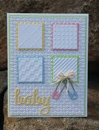 Image result for card ideas using embossing folders Cool Cards, Kids Cards, Cards To Make, Cards Diy, Making Cards, Baby Shower Cards Handmade, Homemade Greeting Cards, Greeting Cards Handmade, Homemade Cards
