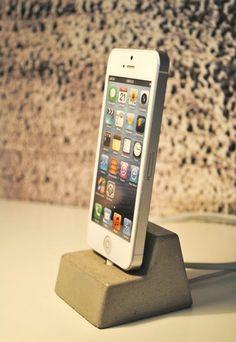 Concrete iPhone 5 Docking Station. $45