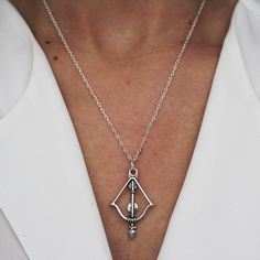 drop arrow sterling silver necklace - https://jenems.com/collections/sterling-silver-necklaces/products/drop-arrow-necklace