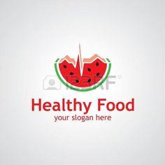 Anguria come progettazione icona cardiogramma vettore, icona idea per il cibo o lo sport di marca photo