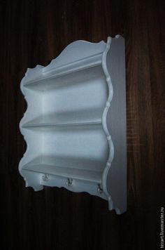 Мебель ручной работы. Ярмарка Мастеров - ручная работа. Купить Декоративная навесная полка в стиле прованс. Handmade. Белый