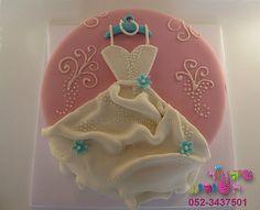 wedding shower cakes | bridal shower wedding dress cake by cakes-mania עוגת שמלת ...