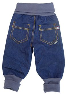 Sewing baggy jeans for little robbers - # for .- Sewing baggy jeans for little robbers – # for a little # - Toddler Outfits, Baby Boy Outfits, Kids Outfits, Baby Sewing Projects, Sewing For Kids, Baby Boy Fashion, Kids Fashion, Diy Clothes Kimono, Sewing Pants