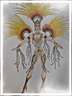 Burlesque Costumes, Carnival Costumes, Carnival Headdress, Samba Costume, Creative Costumes, Showgirls, Vintage Costumes, Costume Design, Moose Art